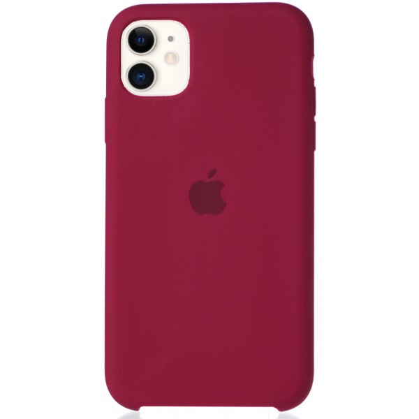 Чехол Silicone Case для iPhone 11 малиновый