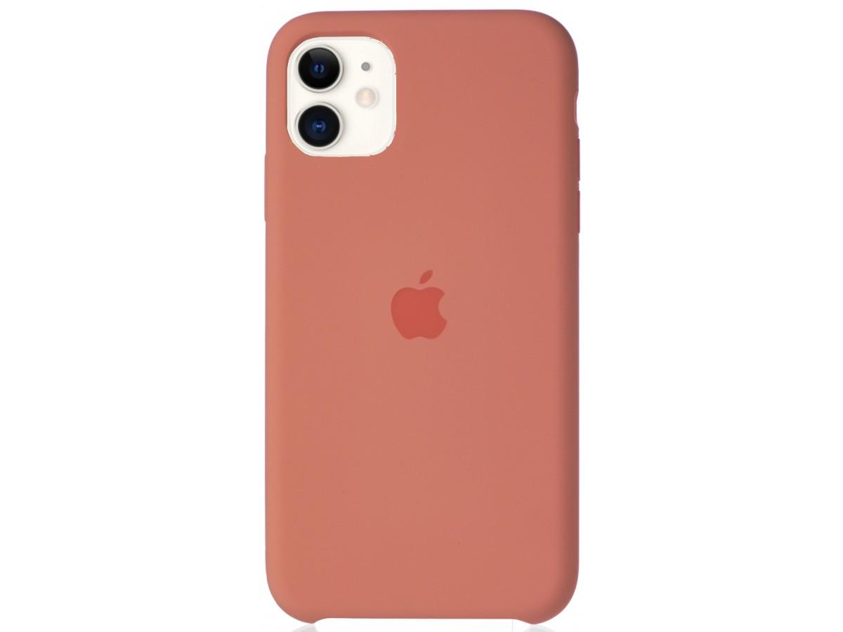 Чехол Silicone Case для iPhone 11 персиковый в Тюмени