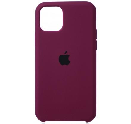 Чехол Silicone Case (С) iPhone 11 Pro марсала