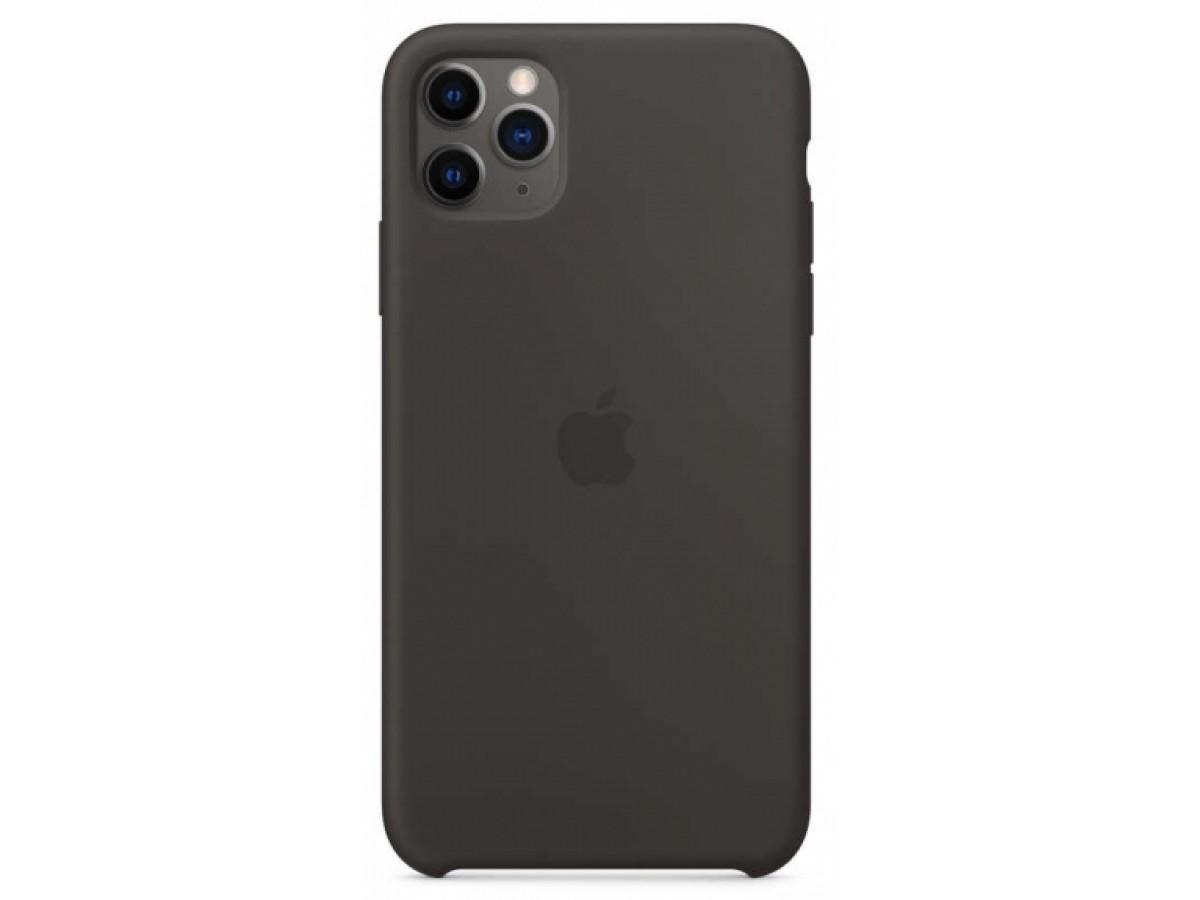 Чехол Silicone Case для iPhone 11 Pro темно-серый в Тюмени