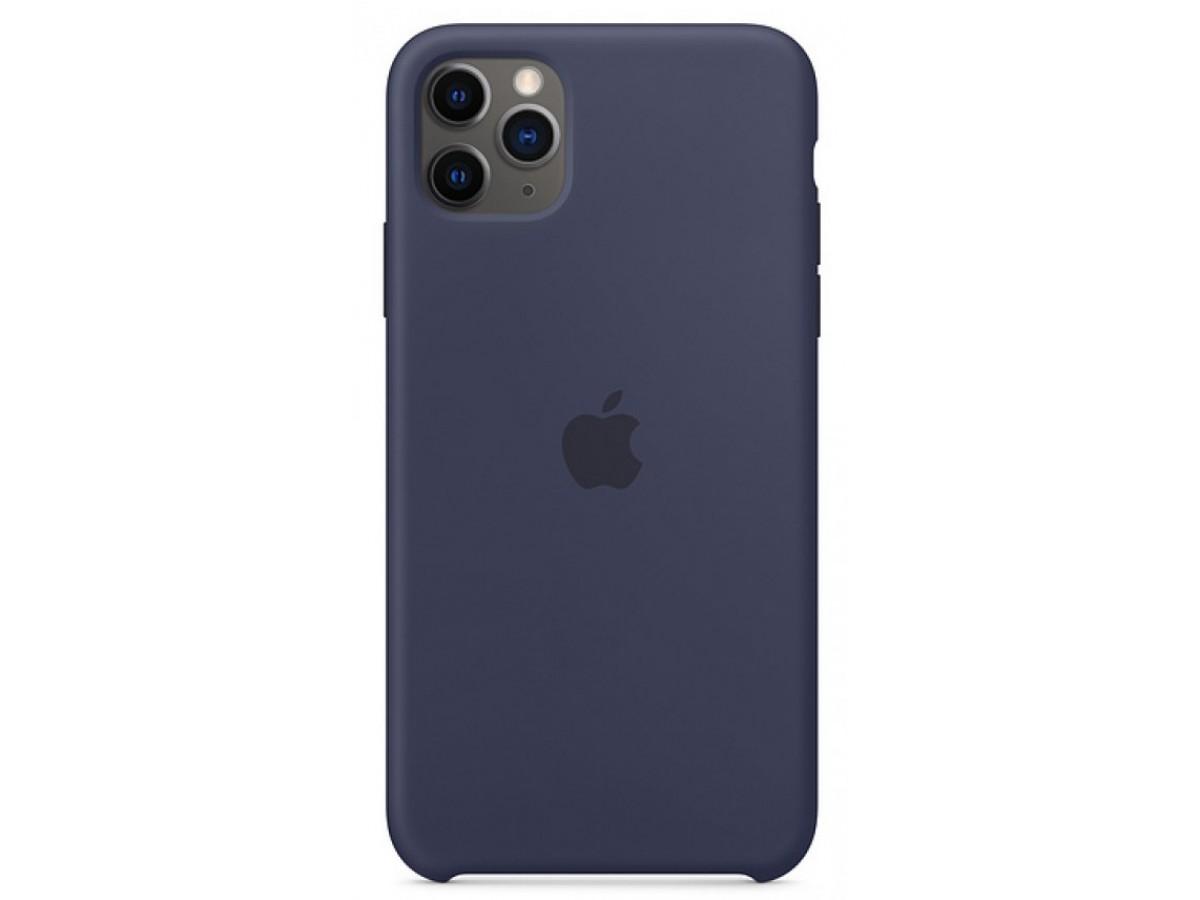 Чехол Silicone Case для iPhone 11 Pro темно-синий в Тюмени