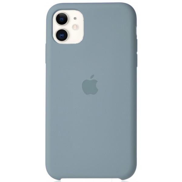 Чехол Silicone Case для iPhone 11 светло голубой