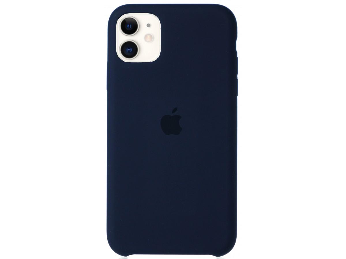 Чехол Silicone Case для iPhone 11 темно-синий в Тюмени
