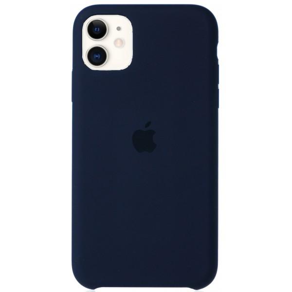 Чехол Silicone Case для iPhone 11 темно-синий
