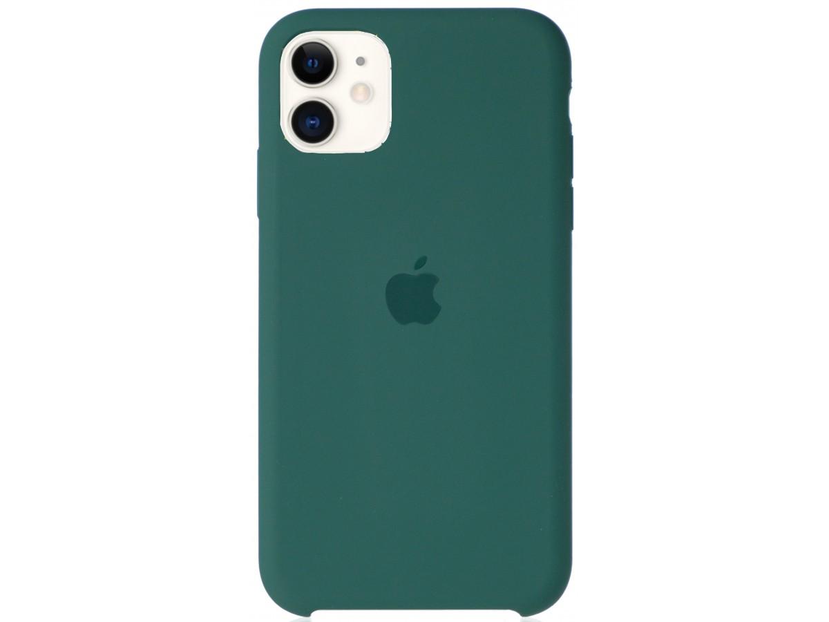 Чехол Silicone Case для iPhone 11 зеленый в Тюмени