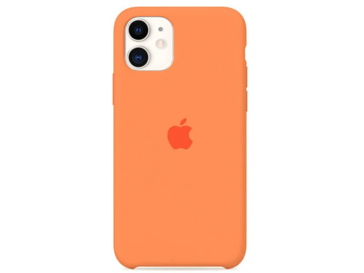 Чехол Silicone Case для iPhone 11 оранжевый в Тюмени