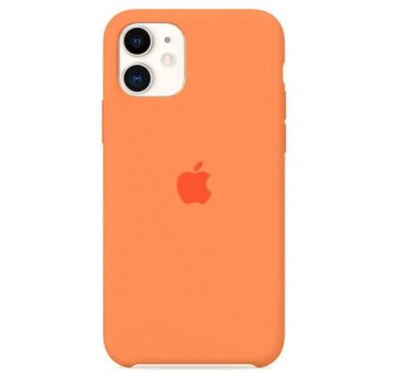 Чехол Silicone Case для iPhone 11 оранжевый