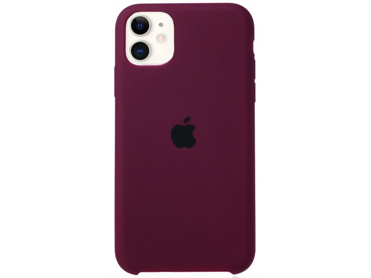 Чехол Silicone Case для iPhone 11 марсала в Тюмени