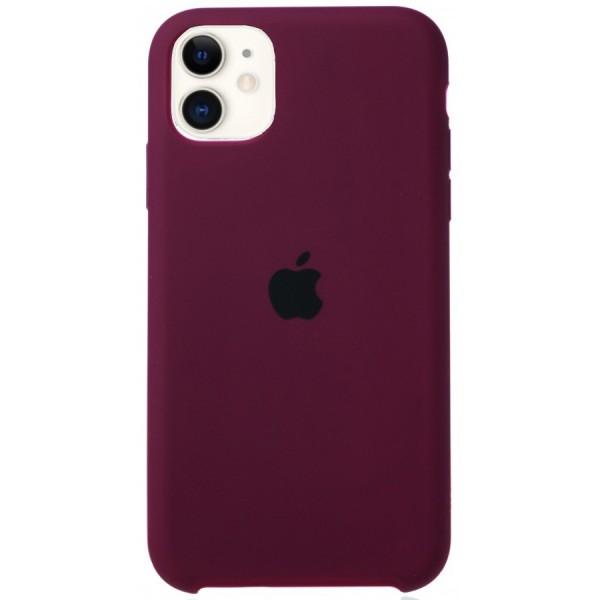 Чехол Silicone Case для iPhone 11 марсала