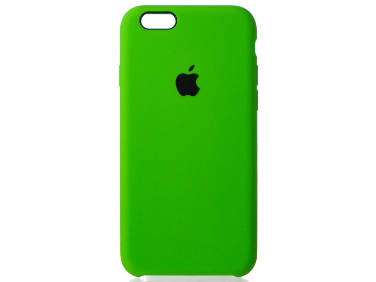 Чехол Silicone Case для iPhone 6/6s салатовый в Тюмени