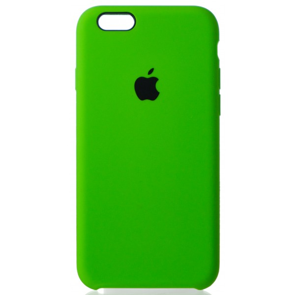 Чехол Silicone Case для iPhone 6/6s салатовый