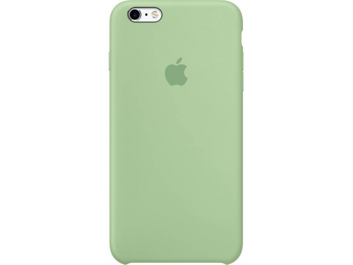 Чехол Silicone Case качество Lux для iPhone 6 Plus/6s Plus зеленый в Тюмени