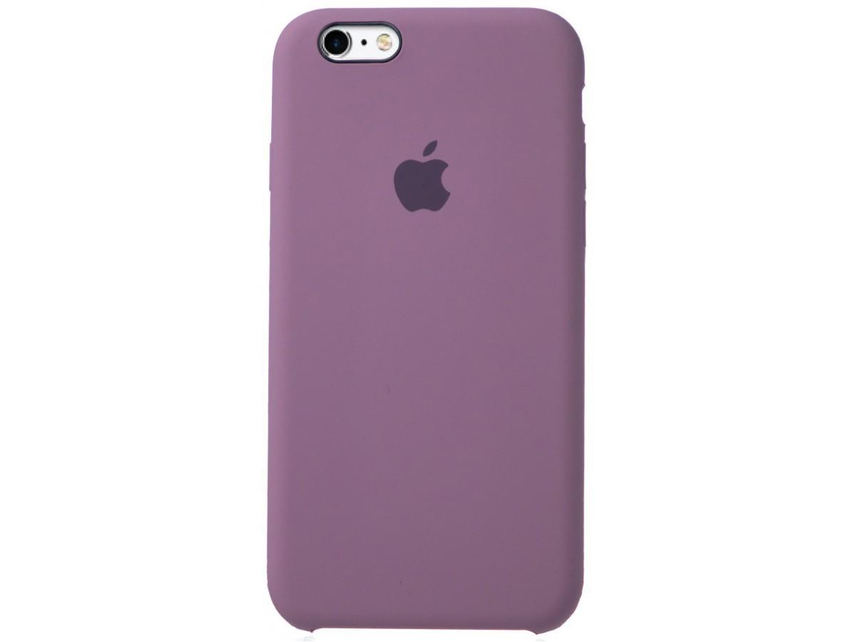 Чехол Silicone Case для iPhone 6/6s черничный в Тюмени