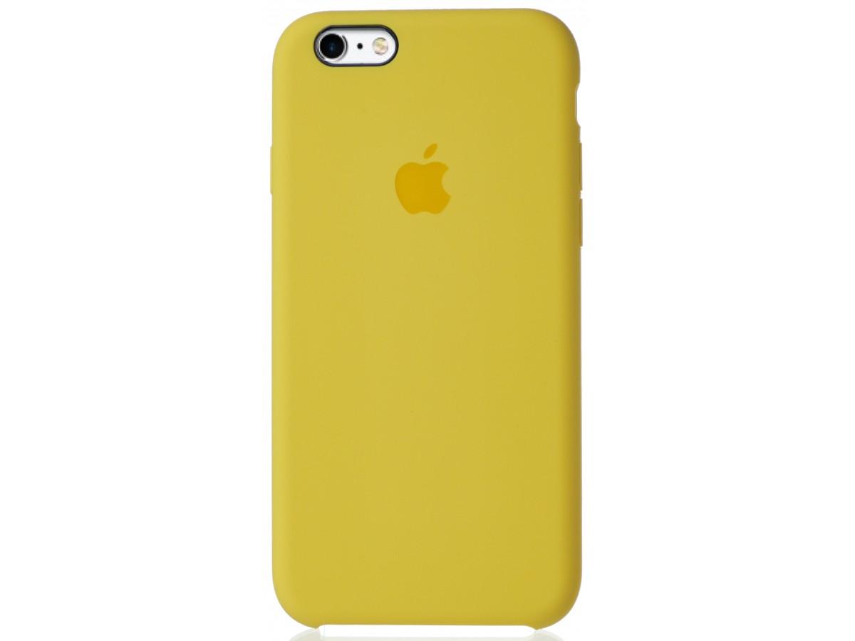 Чехол Silicone Case для iPhone 6/6s желтый в Тюмени