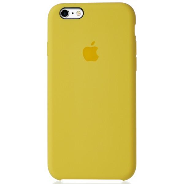 Чехол Silicone Case для iPhone 6/6s желтый