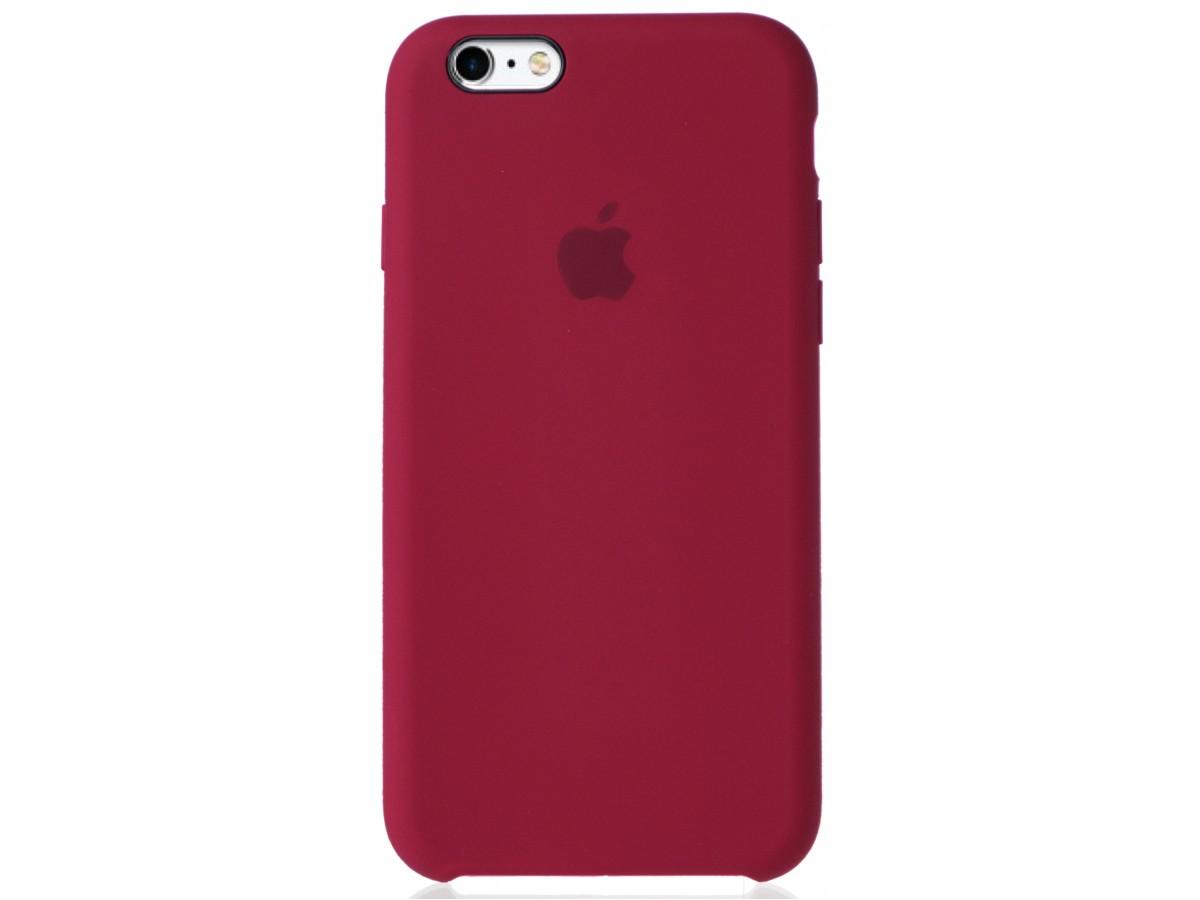 Чехол Silicone Case для iPhone 6/6s малиновый в Тюмени