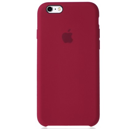 Чехол Silicone Case для iPhone 6/6s малиновый