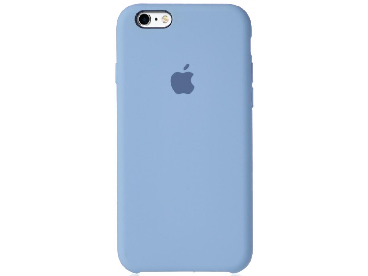 Чехол Silicone Case для iPhone 6/6s светло-голубой в Тюмени