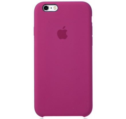 Чехол Silicone Case для iPhone 6/6s темно-розовый