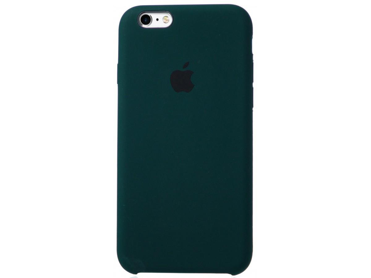 Чехол Silicone Case для iPhone 6/6s темно-зеленый в Тюмени