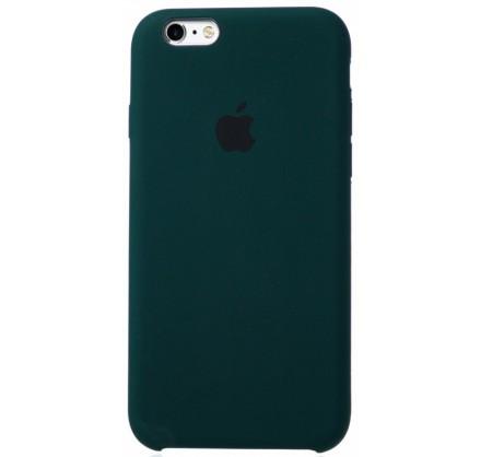 Чехол Silicone Case для iPhone 6/6s темно-зеленый