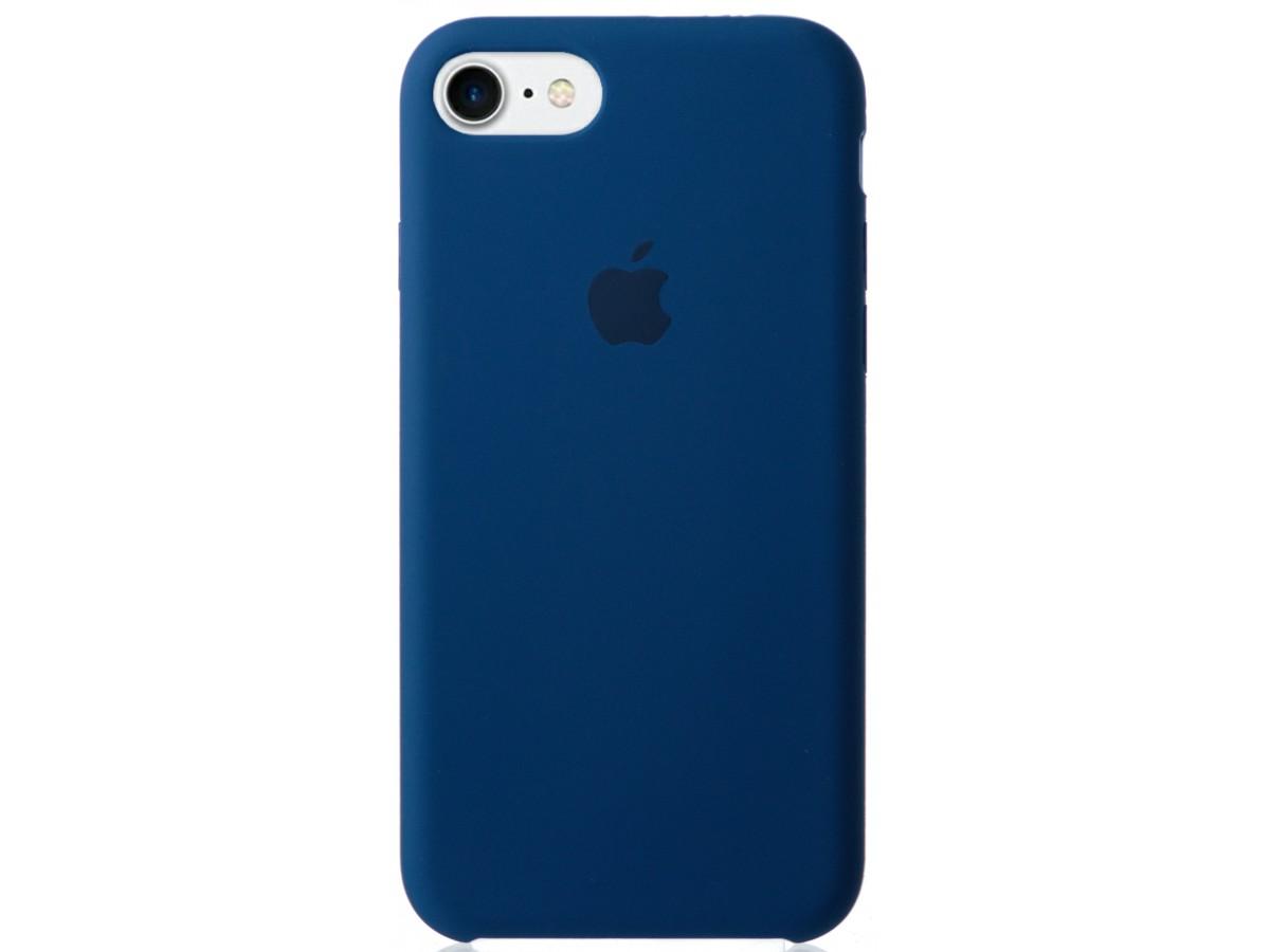 Чехол Silicone Case для iPhone 7/8 синий в Тюмени