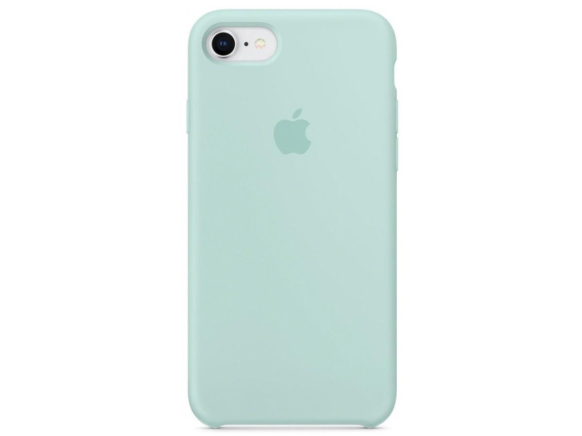 Чехол Silicone Case для iPhone 7/8 бирюзовый в Тюмени