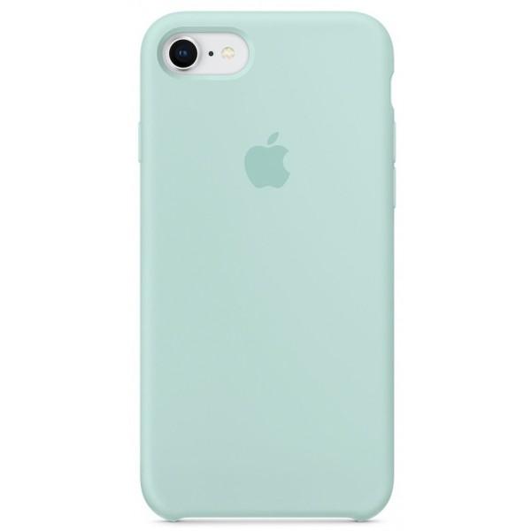 Чехол Silicone Case для iPhone 7/8 бирюзовый