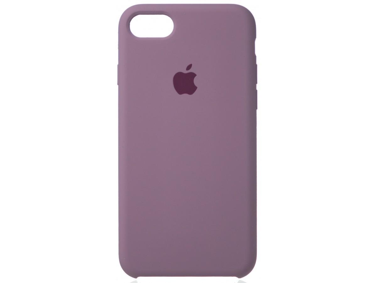 Чехол Silicone Case (С) iPhone 7/8 черничный в Тюмени