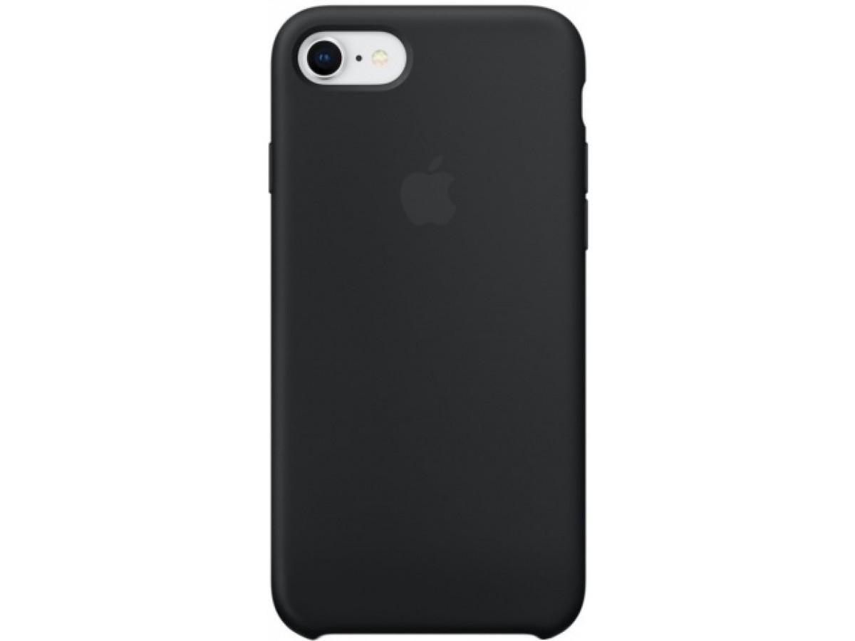 Чехол Silicone Case для iPhone 7/8 черный в Тюмени