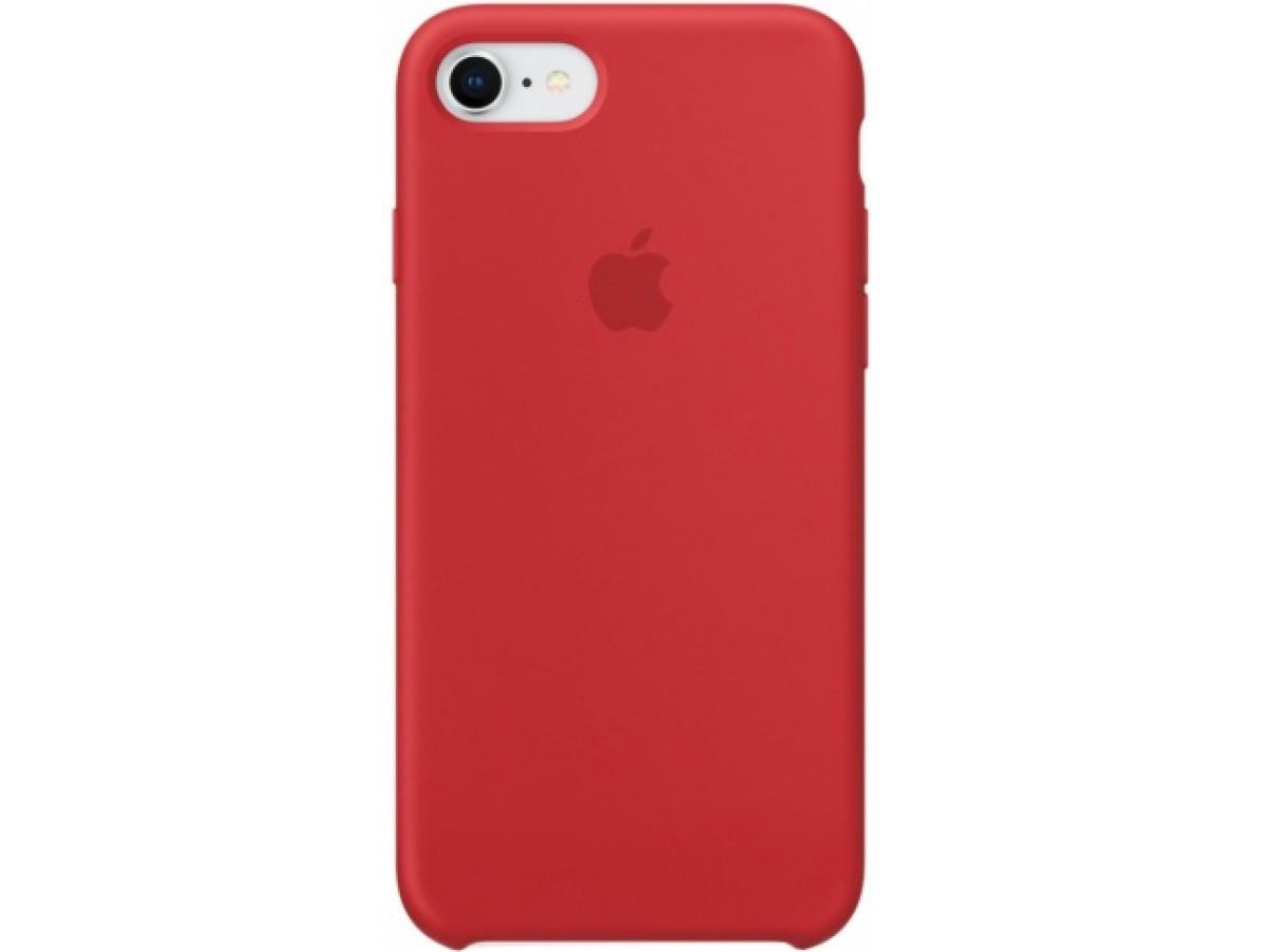 Чехол Silicone Case для iPhone 7/8 красный в Тюмени