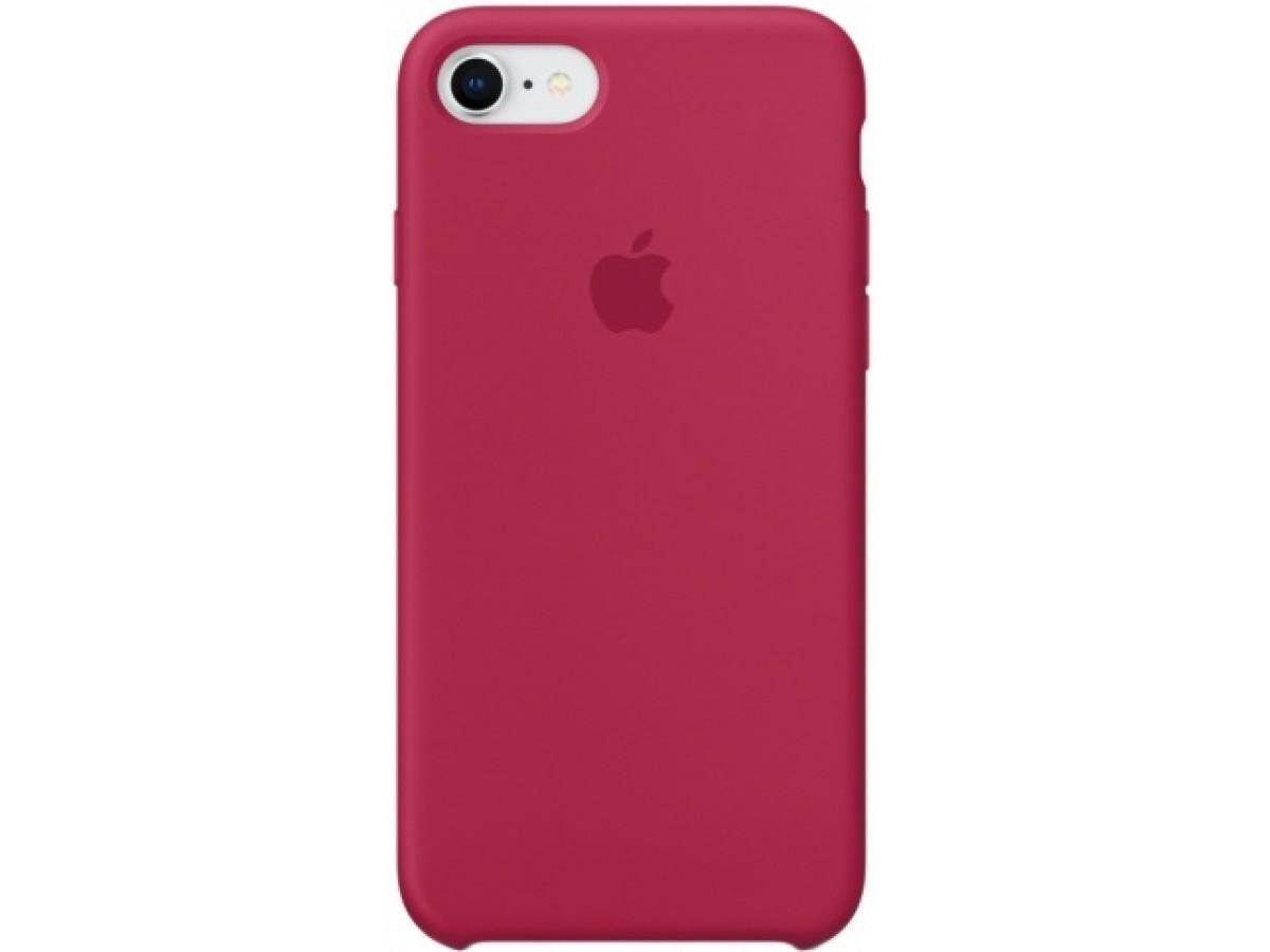 Чехол Silicone Case для iPhone 7/8 малиновый в Тюмени