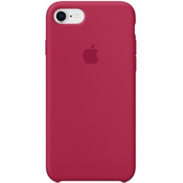 Чехол Silicone Case для iPhone 7/8 малиновый