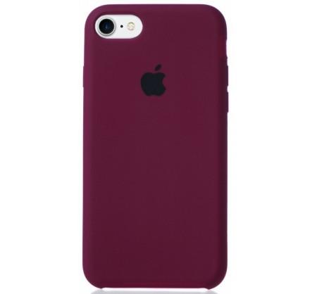 Чехол Silicone Case для iPhone 7/8 марсала