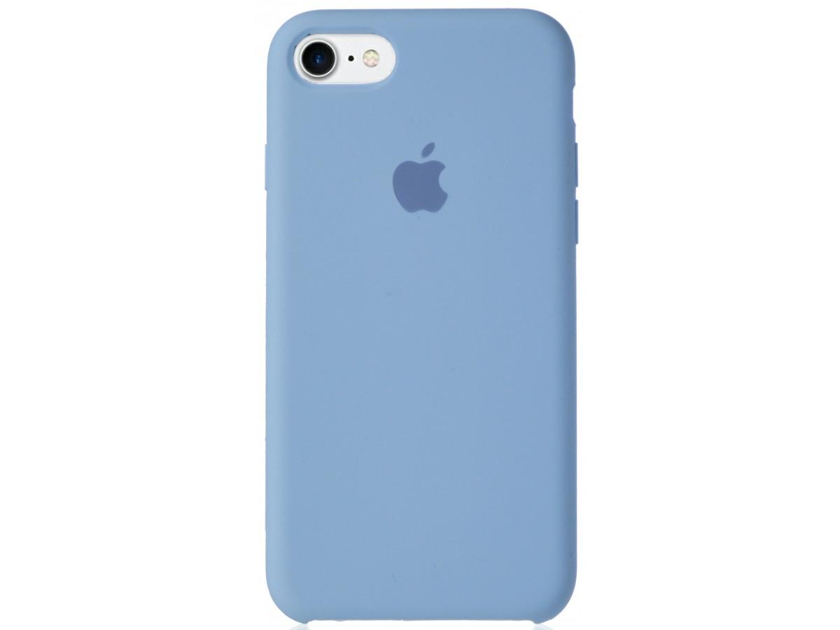 Чехол Silicone Case для iPhone 7/8 светло-голубой в Тюмени