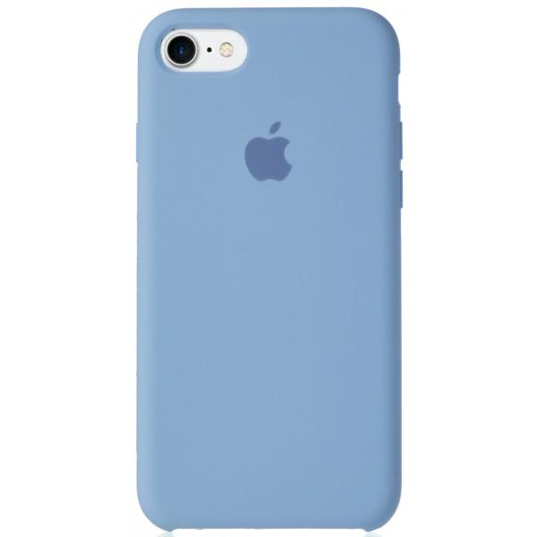 Чехол Silicone Case для iPhone 7/8 светло-голубой