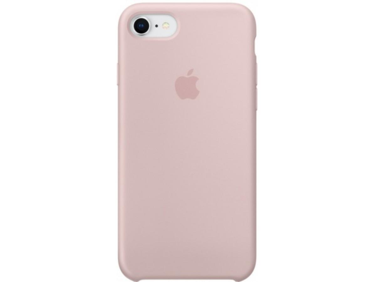 Чехол Silicone Case для iPhone 7/8 светло-розовый в Тюмени