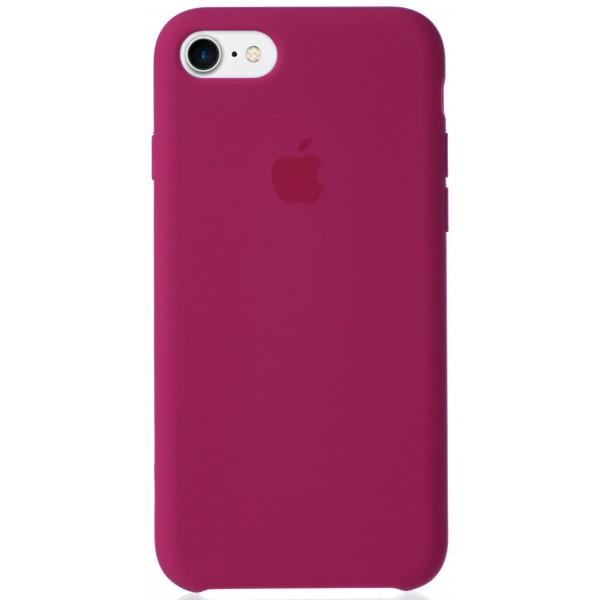 Чехол Silicone Case для iPhone 7/8 светло-вишневый