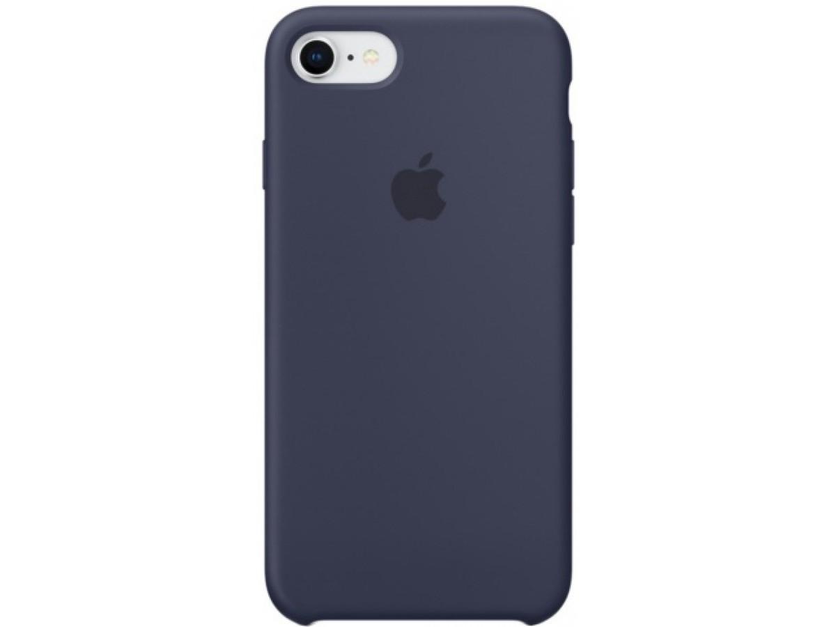 Чехол Silicone Case для iPhone 7/8 темно-синий в Тюмени