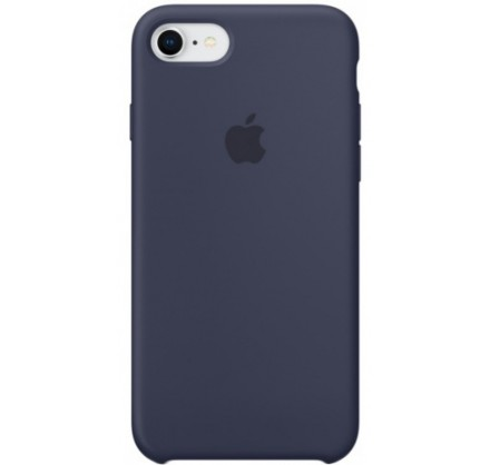 Чехол Silicone Case для iPhone 7/8 темно-синий