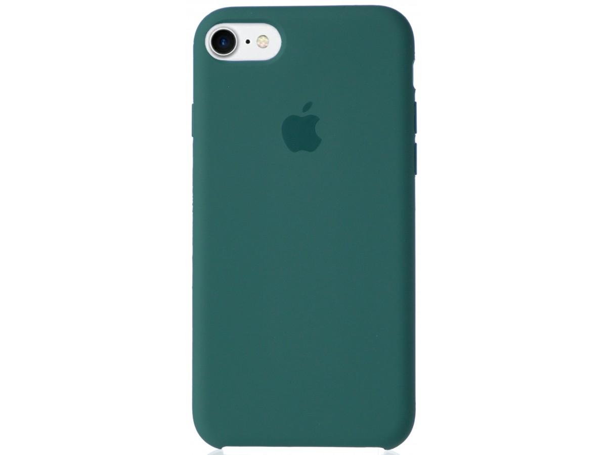 Чехол Silicone Case для iPhone 7/8 зеленый в Тюмени