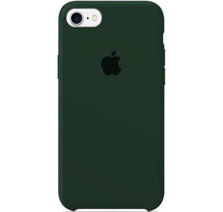 Чехол Silicone Case для iPhone 7/8 темно-зеленый