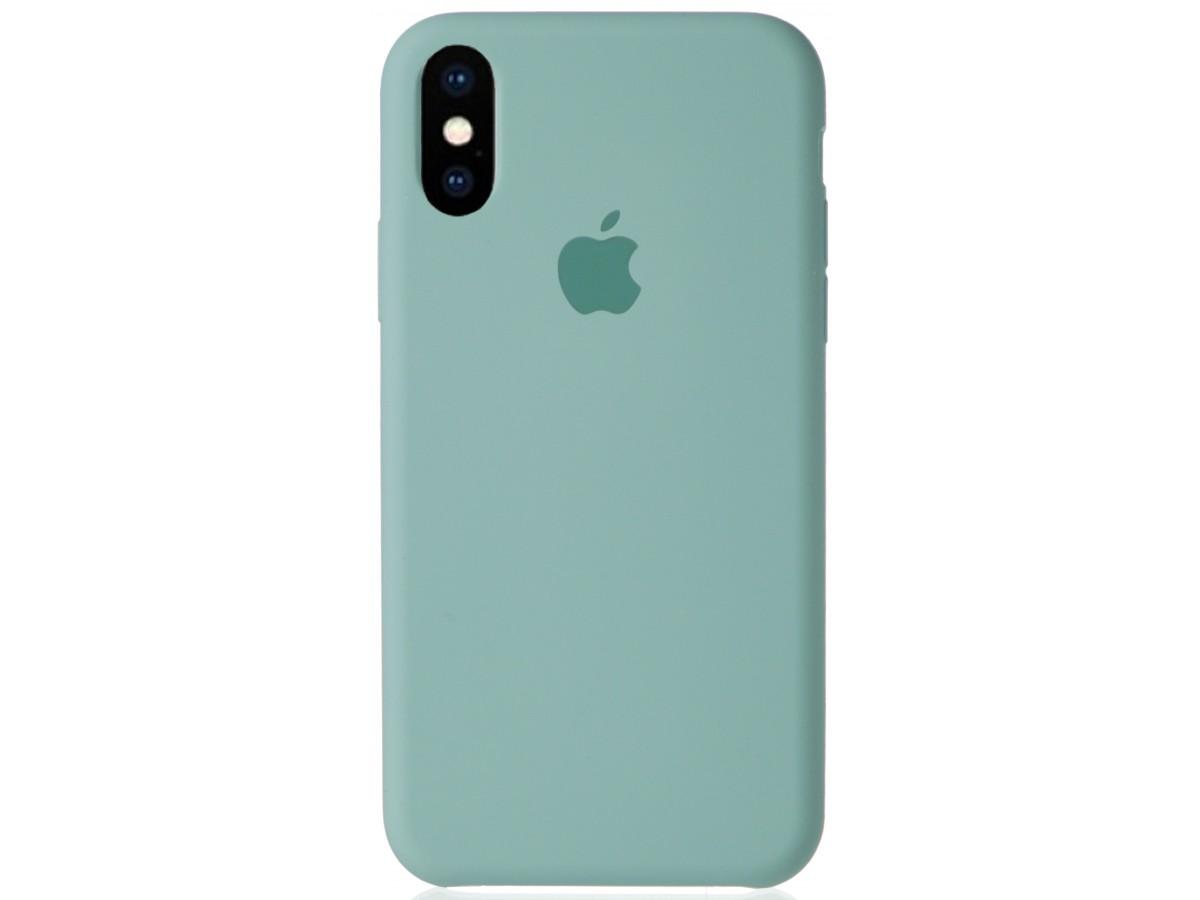 Чехол Silicone Case для iPhone X/Xs бирюзовый в Тюмени