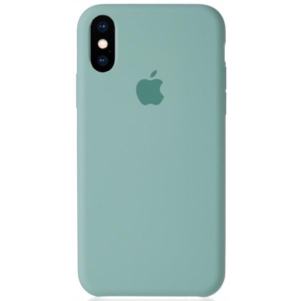 Чехол Silicone Case для iPhone X/Xs бирюзовый