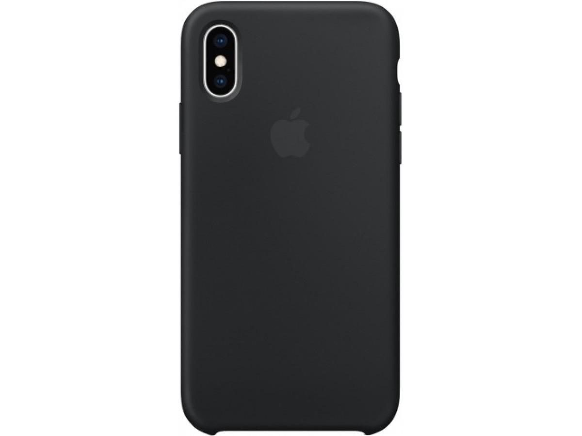 Чехол Silicone Case для iPhone Xs Max черный в Тюмени