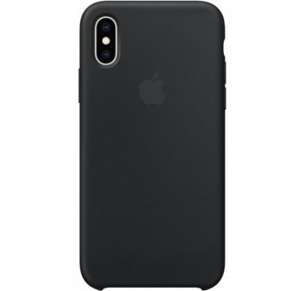 Чехол Silicone Case для iPhone Xs Max черный