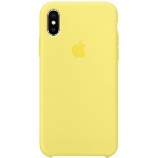 Чехол Silicone Case (С) iPhone 11 желтый