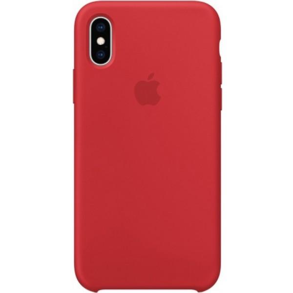 Чехол Silicone Case для iPhone Xs Max красный