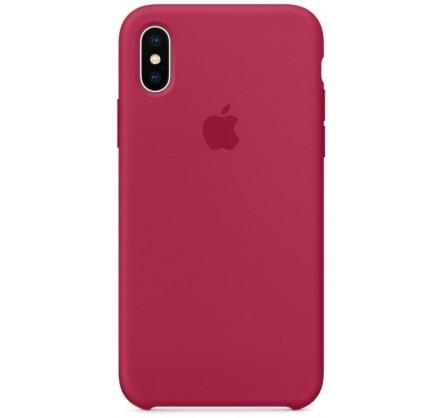 Чехол Silicone Case для iPhone Xs Max малиновый