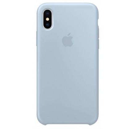 Чехол Silicone Case для iPhone X/Xs светло голубой